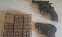 البعنة: اعتقال شاب بعد ضبط مسدسين وذخيرة