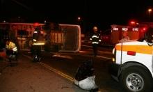 اللد: إصابة 15 عاملا عربيا في حادث طرق