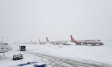 عاصفة ثلجية توقف الرحلات التركية من مطار أتاتورك