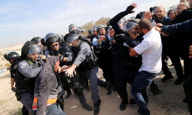 تظاهرات في بلدات عربية ضد تهجير أم الحيران