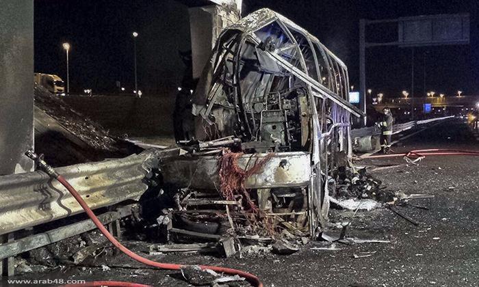 إيطاليا: مصرع 16 وإصابة 40 في اشتعال حافلة طلاب