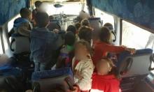 ضبط حافلة صغيرة تقل 28 طفلا في المشهد