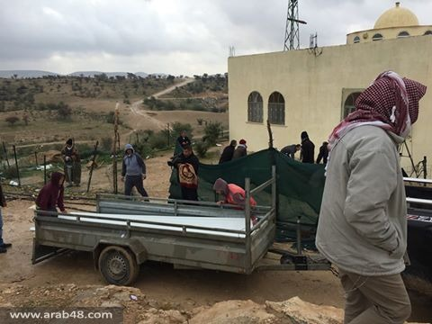 بعد هدم منازلهم: أهل أم الحيران يواجهون العاصفة والبرد