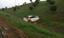 إصابة 5 أبناء عائلة عربية من الرملة بانقلاب سيارتهم