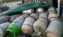 اعتقال سائق من إكسال ومصادرة أسطونات غاز وبيض