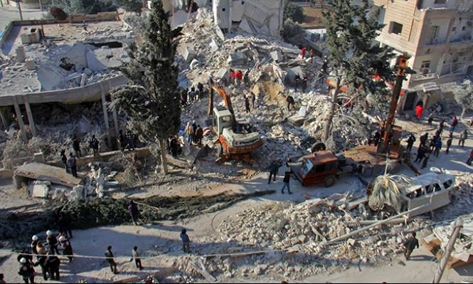 سورية: ارتفاع عدد ضحايا الغارة على إدلب إلى 46