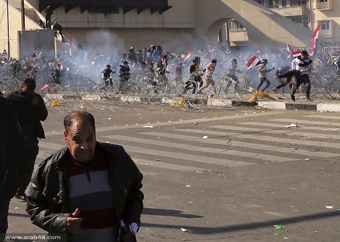سبعة قتلى بصدامات بين متظاهرين والشرطة في بغداد