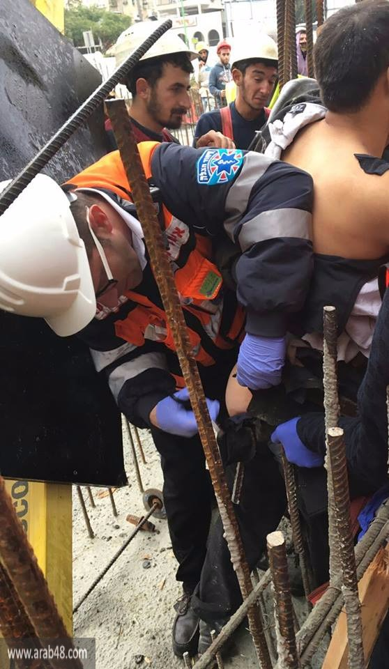 إصابة خطيرة: سقوط عامل عن علو 8 أمتار