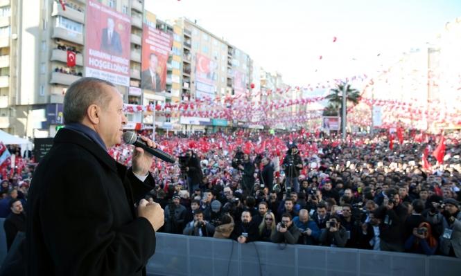 إردوغان يبدأ حملته للاستفتاء حول توسيع صلاحياته
