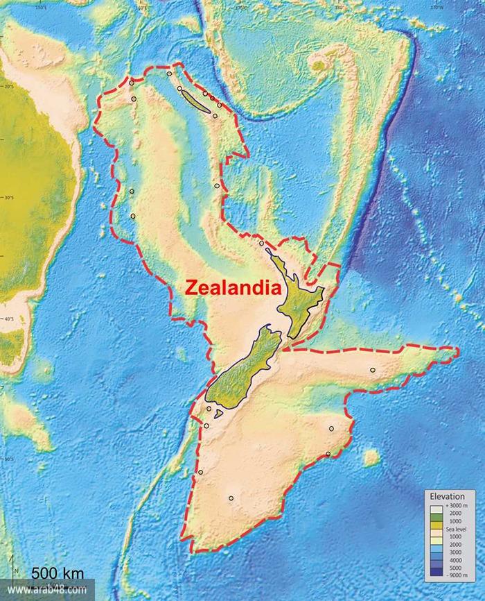 العثور على القارة الغارقة في المحيط الهادي