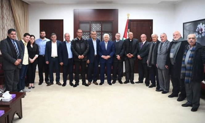 وفد التجمع يلتقي الرئيس عباس وقادة منظمة التحرير