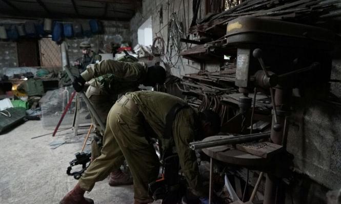 الاحتلال يعتقل 10 بالضفة ويصادر ورشة بنابلس