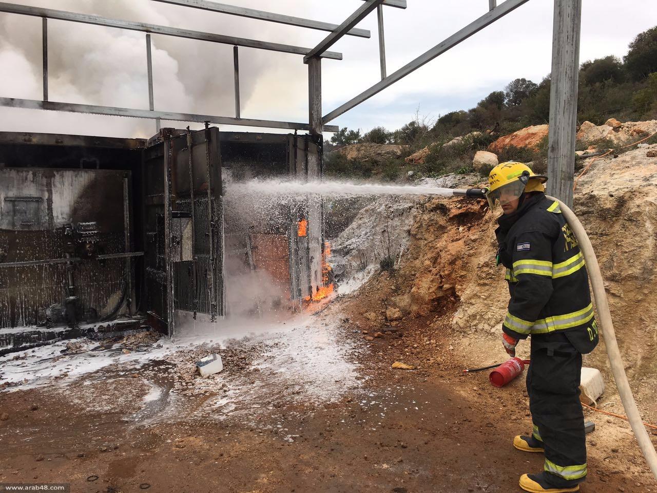 المغار: اشتعال النار في خزاني وقود