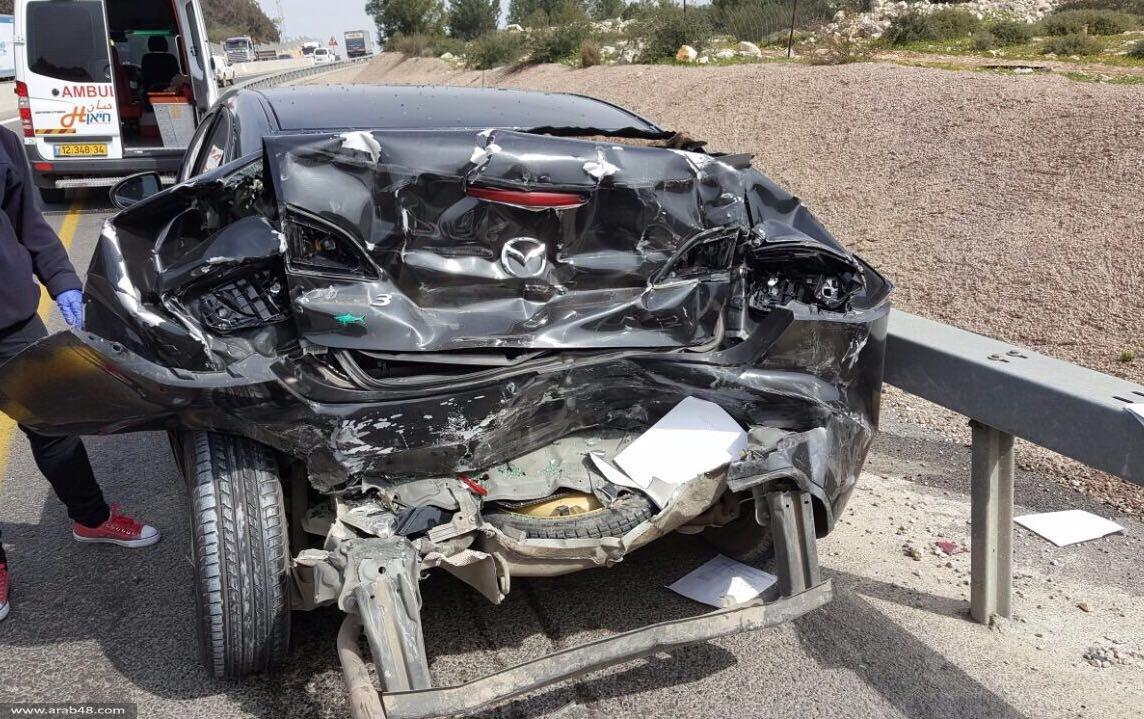 3 إصابات في حادث طرق قرب جديدة المكر