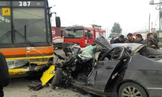 مصرع امرأة في حادث طرق قرب نابلس
