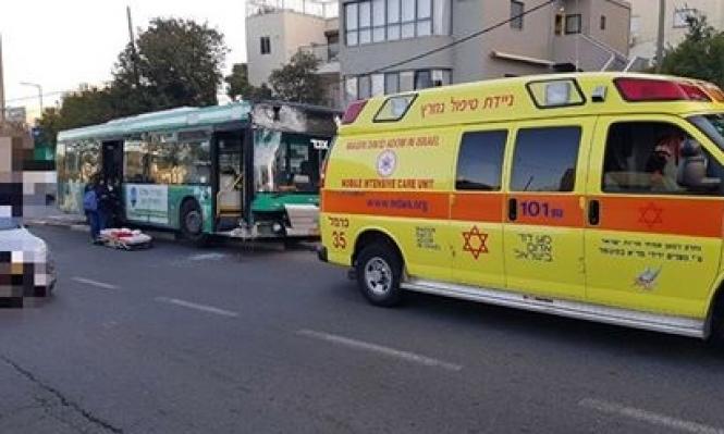 حيفا: وفاة سائق حافلة بسكتة قلبية كادت أن تتسبب بحادث مروع