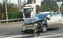 إصابتان في حادث طرق بوسط البلاد