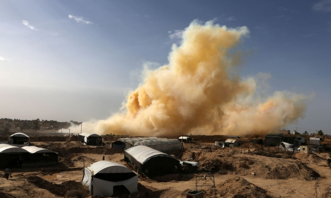 الاحتلال يقصف أراض زراعية في قطاع غزة