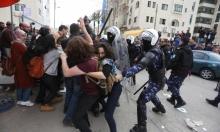 استنكارات وإدانات لاعتداء أمن السلطة على المتظاهرين برام الله