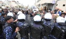 اعتصام بالدروع إثر اعتداء أمن السلطة على الصحافيين