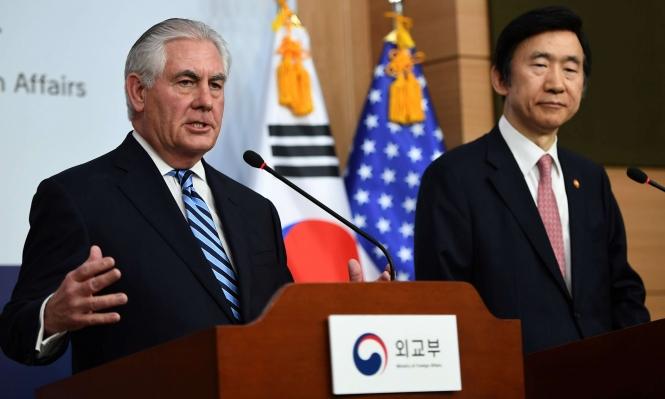 تيلرسون يهدد بتحرك عسكري ضد كوريا الشمالية