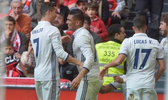 كاسيميرو يقود ريال مدريد للفوز على بيلباو