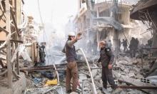 33 قتيلا مدنيا بقصف جوي على حمورية وإدلب