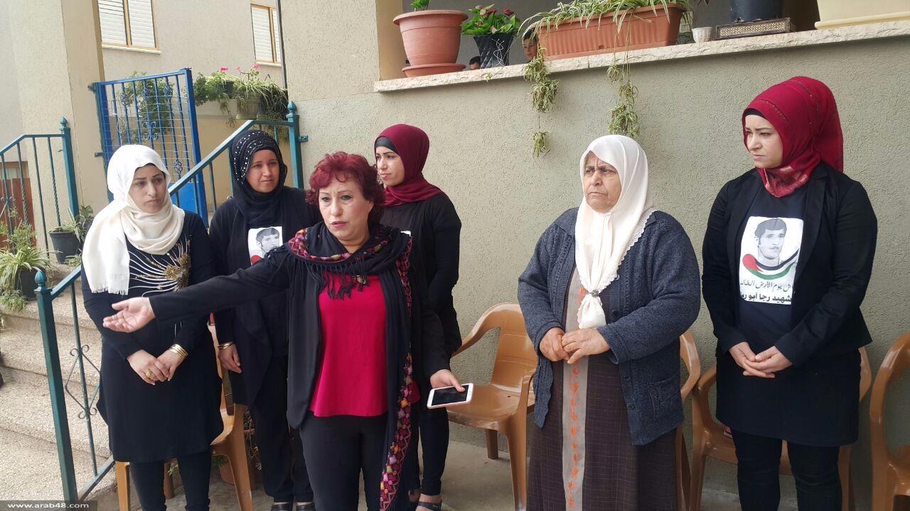 سخنين: زيارة عائلات شهداء يوم الأرض
