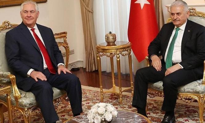 تيلرسون في تركيا لبحث النزاع السوري
