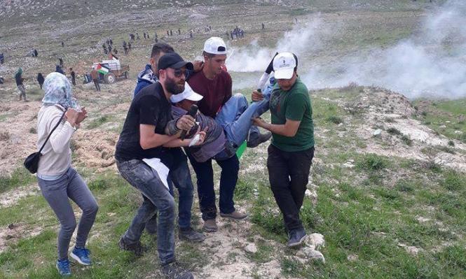نابلس: 45 جريحا بالرصاص بقمع الاحتلال لفعالية غرس أشجار