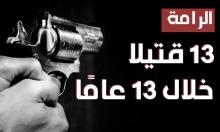 الرامة: 13 قتيلا خلال 13 عاما