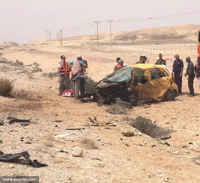 النقب: مصرع حسام الهواشلة وشابة في حادث طرق