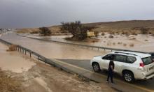 فيضانات بالجنوب وإغلاق شارع وادي عربة
