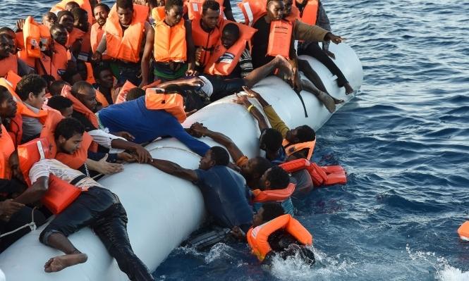 غرق نحو 100 مهاجر قبالة السواحل الليبية