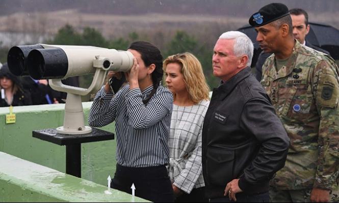 بنس يحذر كوريا الشمالية ويذكّر بالهجوم الصاروخي على سورية