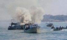 الاحتلال يعتدي على قوارب الصيادين ببحر غزة