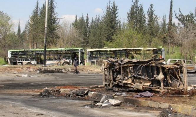 خروج الدفعة الثانية من مهجّري مضايا والزبداني إلى إدلب