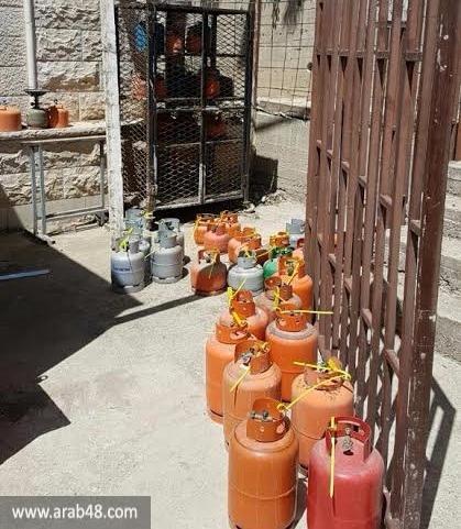 المغار وعيلبون: اعتقال 3 أشخاص ومصادرة 150 أسطوانة غاز