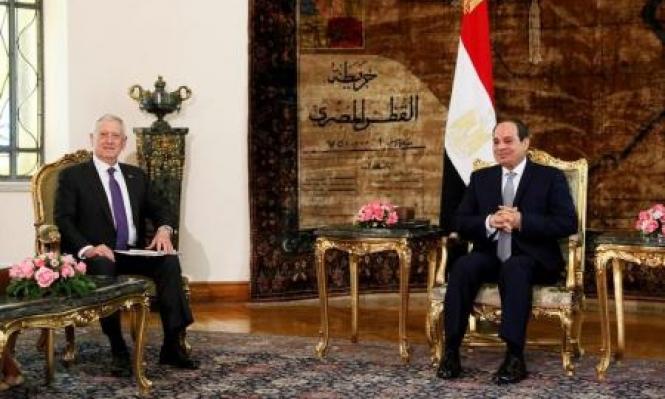 ماتيس يلتقي السيسي ويبحثان التعاون العسكري ومكافحة الإرهاب