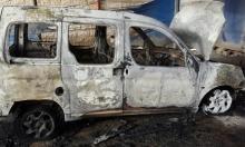 مستوطنون يحرقون مركبة فلسطينية في بلدة حوارة