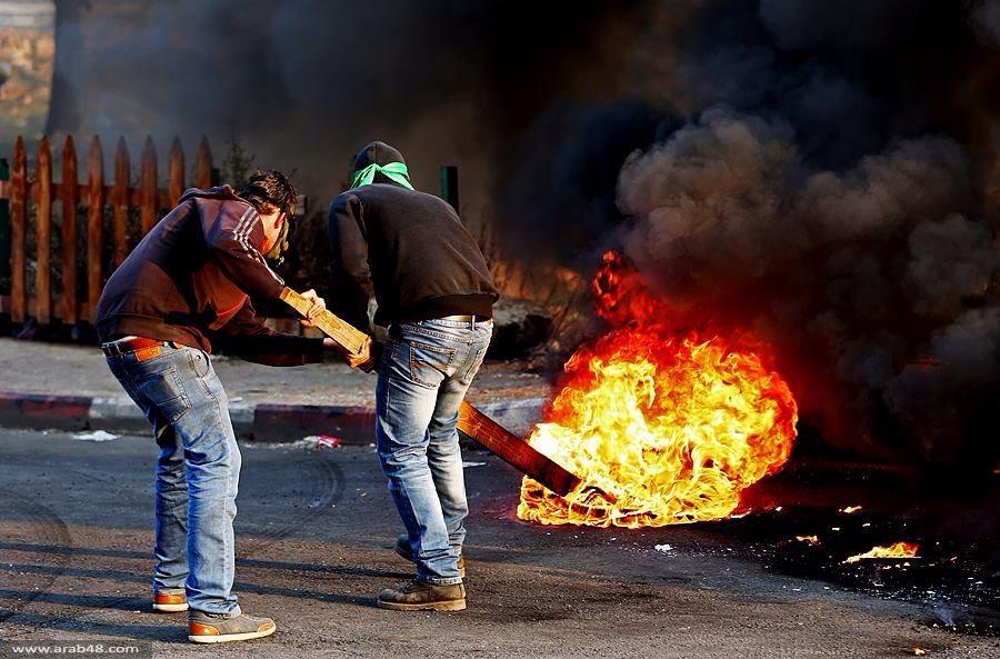 الضفة: مظاهرات ومواجهات واسعة بيوم غضب تضامنا مع الأسرى