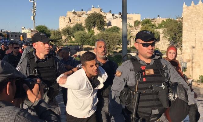 الاحتلال يعتدي على الصحافيين بمسيرة داعمة للأسرى بالقدس