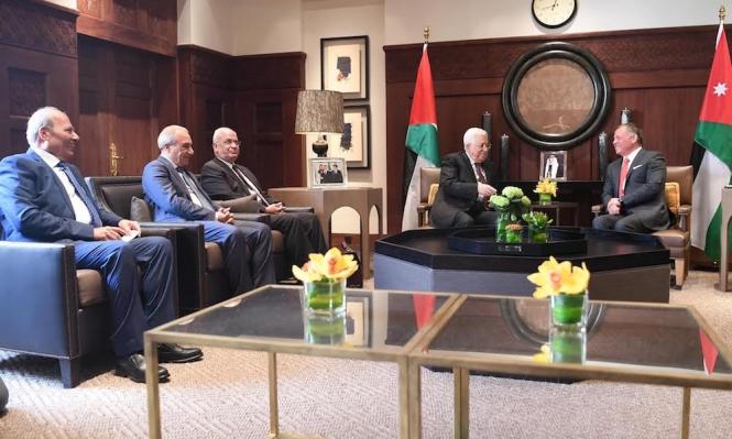 عباس يلتقي الملك عبد الله قبيل سفره لواشنطن