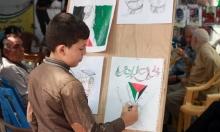 """""""الفنان الصغير"""" يرسم للأسرى نصرةً لإضرابهم عن الطعام"""