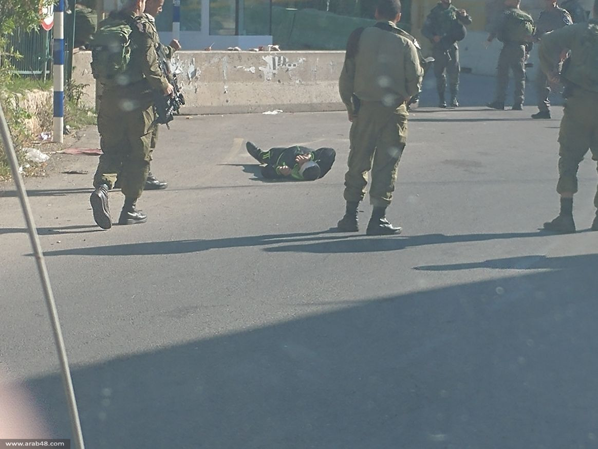 الخليل: إطلاق النار على فلسطيني بادعاء محاولته تنفيذ عملية طعن