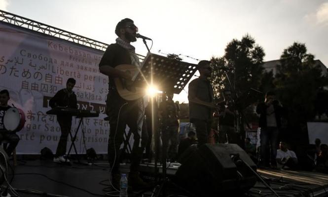 """""""دواوين"""" تغني في غزة دعما لإضراب الكرامة"""