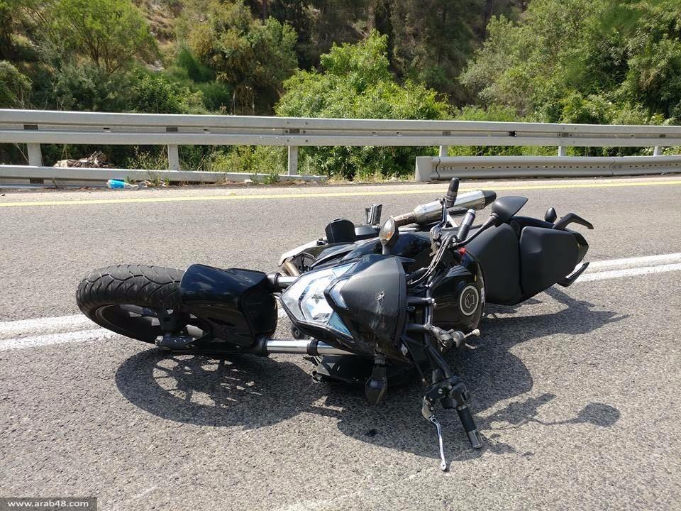 إصابة خطيرة لشاب من البعينة في حادث دراجة نارية