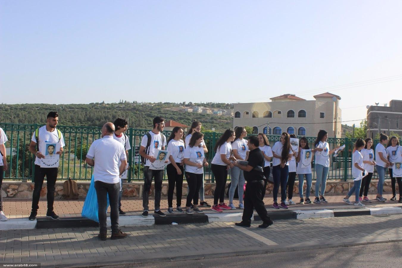 طلاب ثانوية كوكب ينظمون وقفة إسناد للأسرى