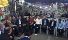 نواب المشتركة يزورون خيمة التضامن مع الأسرى في رام الله