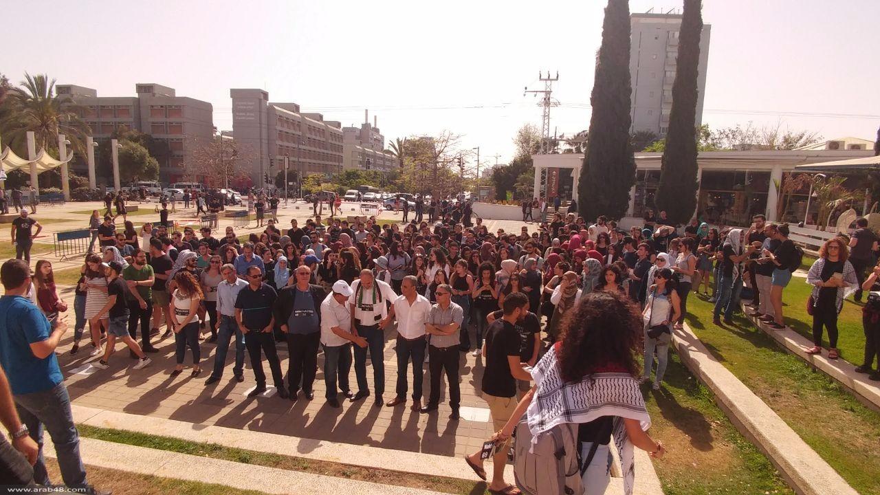 الطلاب العرب يحيون ذكرى النكبة في جامعة تل أبيب
